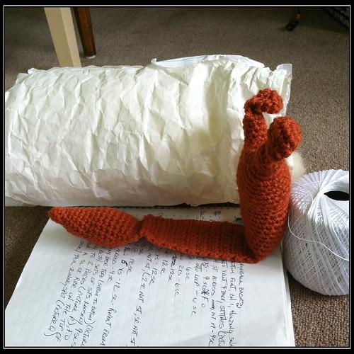 crochet snail pattern progress