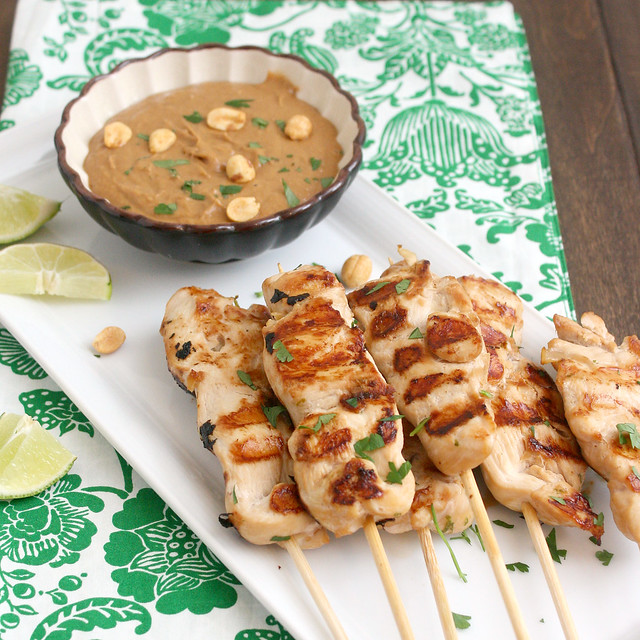 Chicken Saté with Peanut Dipping Sauce | Flickr - Photo Sharing!