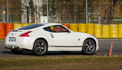 automobile(1.0), automotive exterior(1.0), wheel(1.0), vehicle(1.0), performance car(1.0), automotive design(1.0), nissan 370z(1.0), nissan(1.0), land vehicle(1.0), supercar(1.0), sports car(1.0),