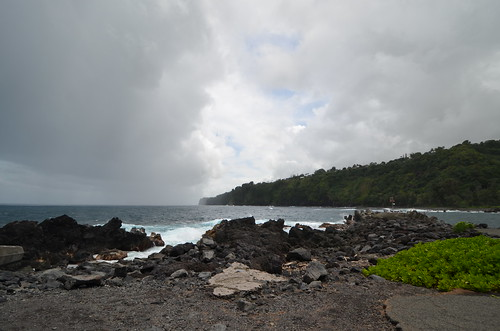 Storm approaching the Hamakua coast