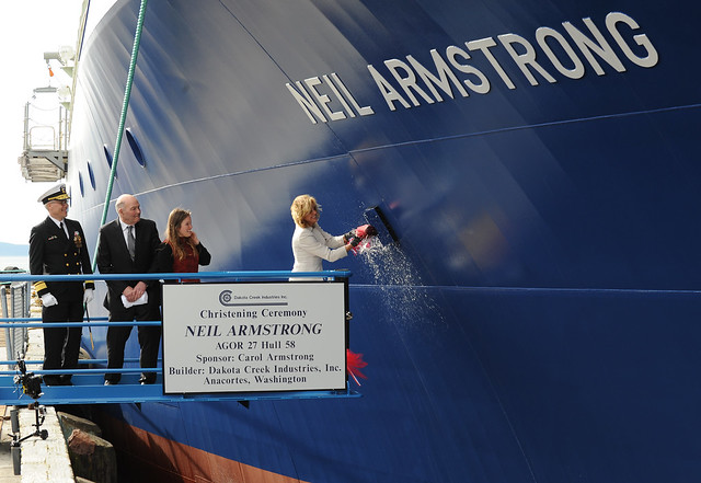 USNS Armstrong is christened.