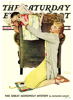 1940 ... re-decorating - Norman Rockwell