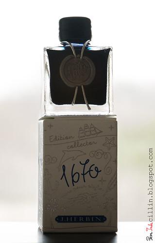 J Herbin 1670 Anniversary Bleu Ocean bottle