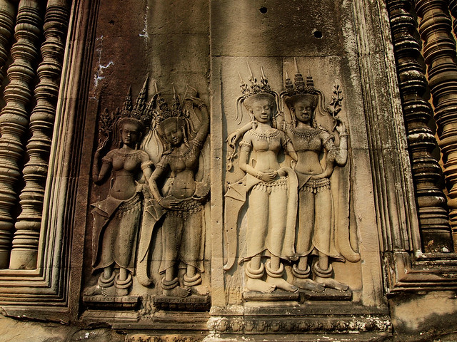 Details at Angkor Wat in Cambodia