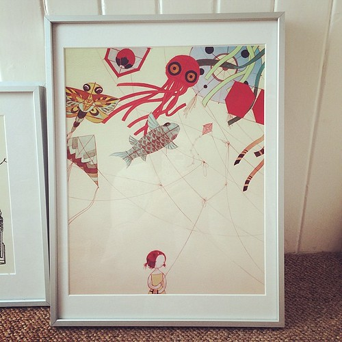 Got my new print framed, a birthday gift. It's by Stasia Burrington.