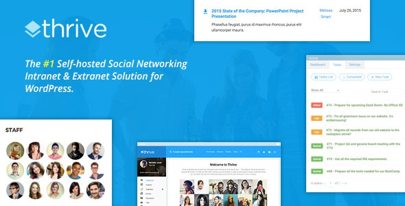 Thrive v1.9.2 - Intranet & Community WordPress Theme