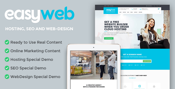 EasyWeb v1.0.1 WP Theme For Hosting, SEO and Web-design Agencies