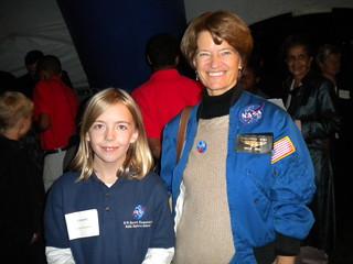 Barrett Student w NASA 1st American Female Astronaut Sally Ride