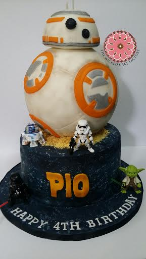 BB8 Star Wars Galaxy Cake by Cathz Bondoc of The Wicked Cake Factory
