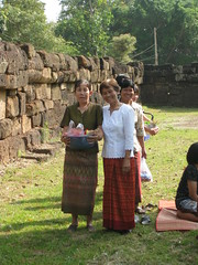 Villagers preparing for Monk's procession
