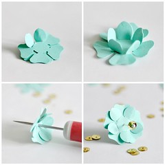 Making Paper Punch Flowers Blogged At Torie Jayne Blog Flickr