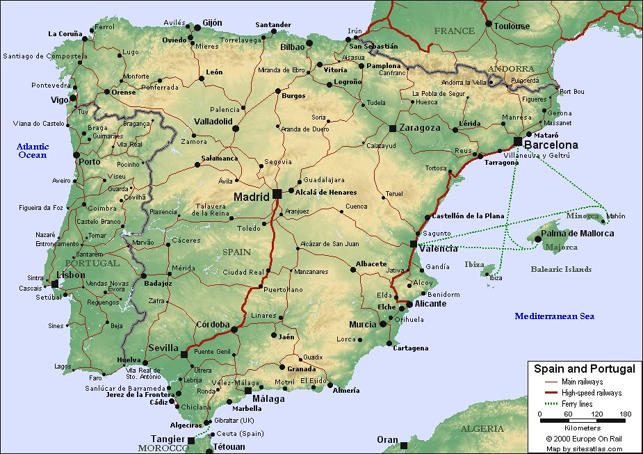 Map Of Spain And Portugal For Use In Locating The Cities O Flickr