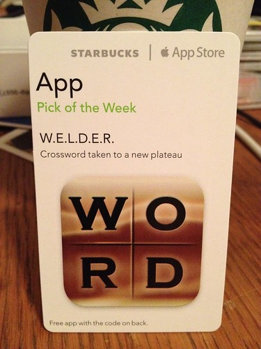 Starbucks iTunes Pick of the Week - W.E.L.D.E.R.