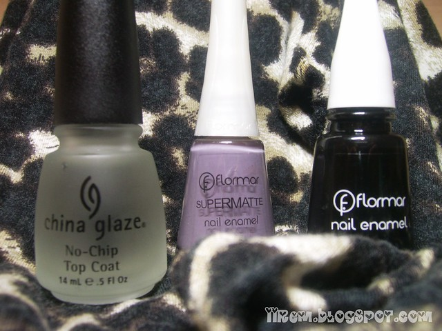 China glaze No-Chip Top Coat , Flormar M126 - 313
