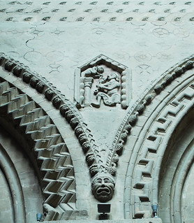 Wall detail from the nave