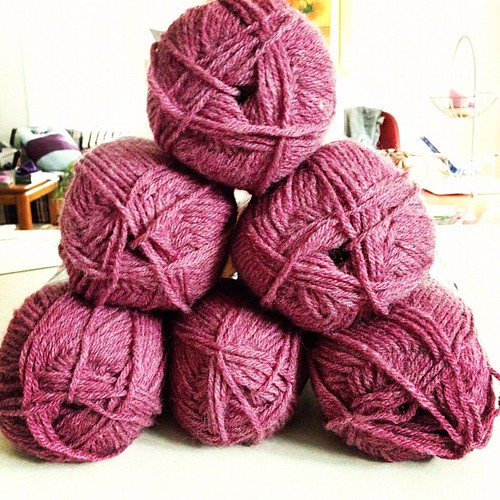 Bought yarn to start an afghan...even though I already have so many WIPs. Oh well :) #yarn #knitting