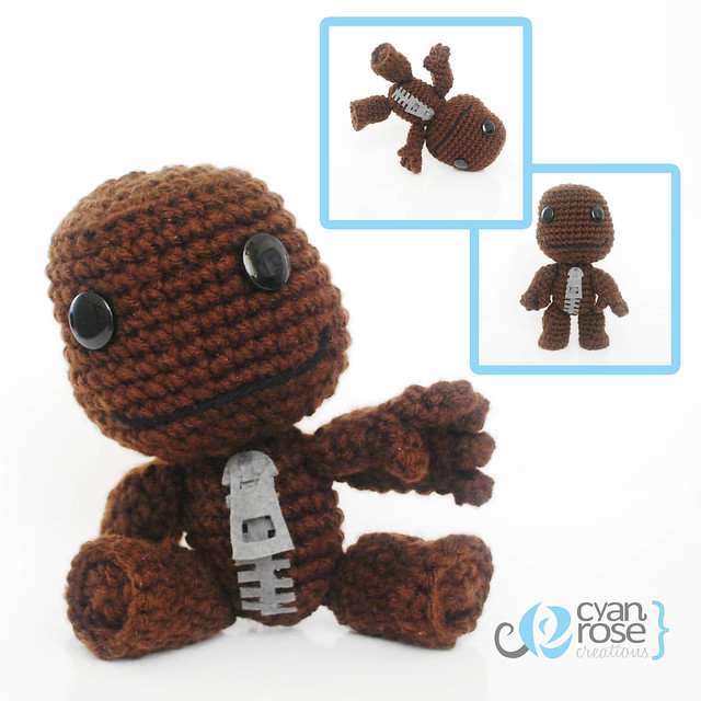 Sackboy, from Little Big Planet. Crochet Amigurumi Plush ...