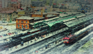 Railway Station (blurred and rainy / 1st try)