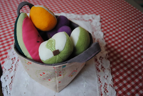 mini fabric basket