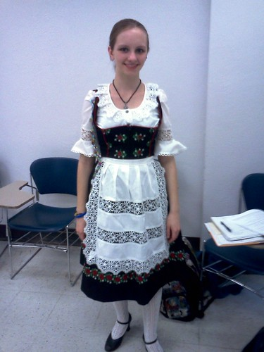 One of my student's in her dirndl by cathie