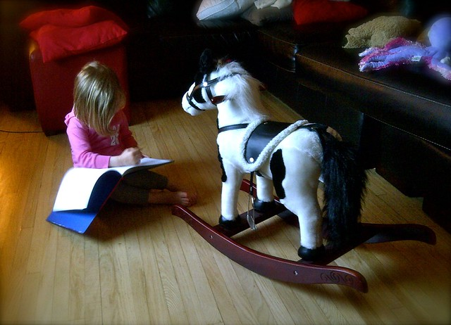 Zo reading to Maximus