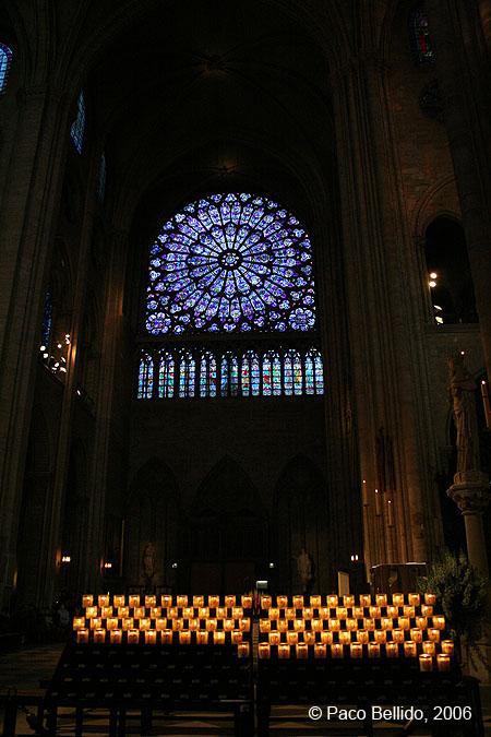 Vidrieras de Notre-Dame. © Paco Bellido, 2006