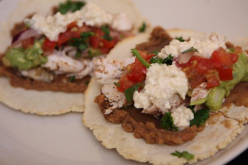 Pulled Chicken Tortillas with Queso Blanco