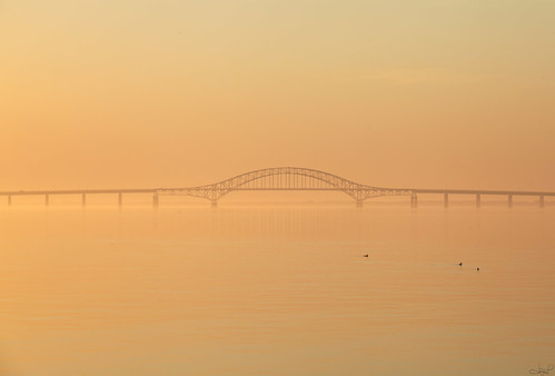 """Serene Dawn"", Robert Moses Causeway Bridge, Long Island, NY"