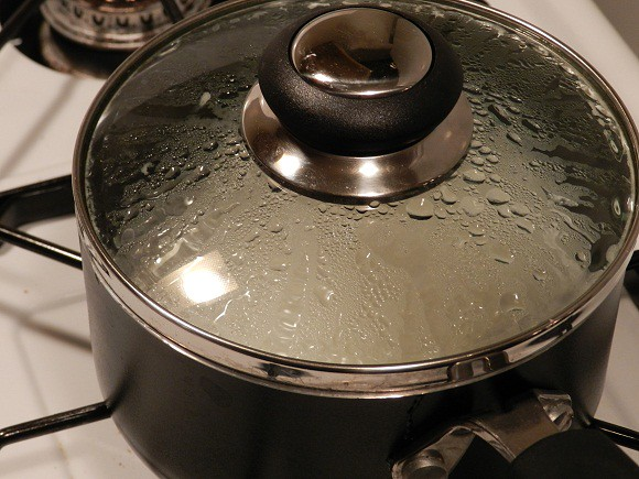 boiling rice