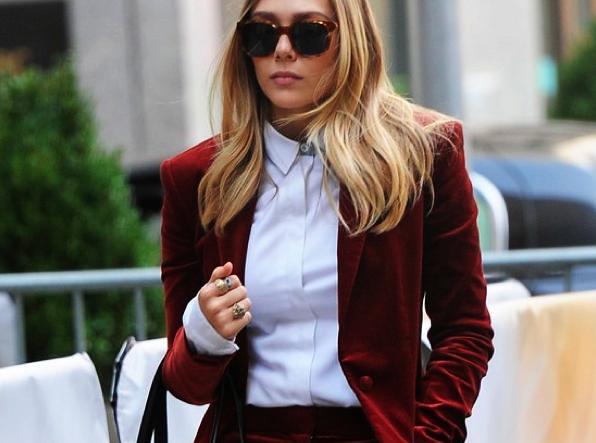 Elizabeth Olsen velvet