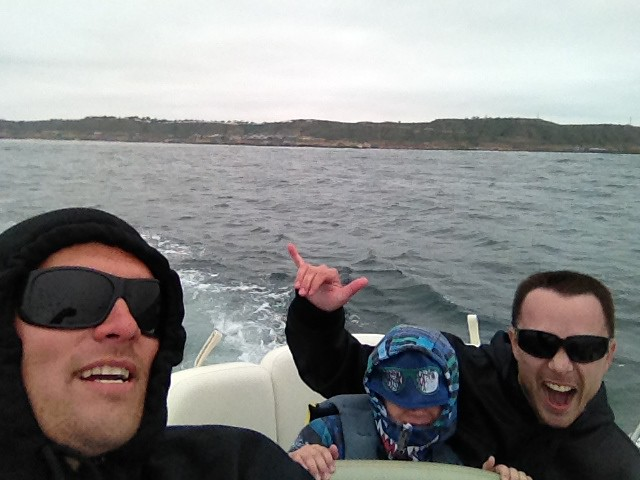 Parker Mike and I on boat SD Mar 2012