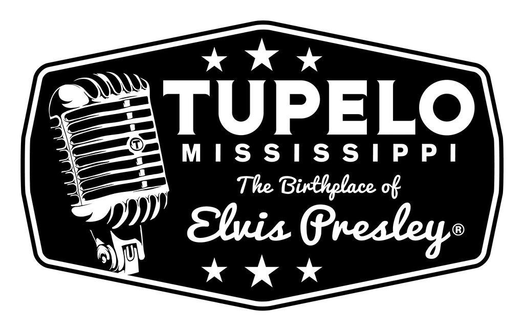 TUPELO MISSISSIPPI Birthplace of Elvis Presley logo fo…