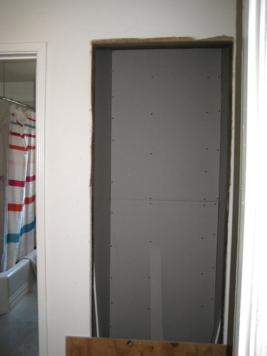 new hall closet drywalled