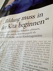 """FAS vom 29.04.2012: """"Bildung muss in der Kita beginnen"""""""