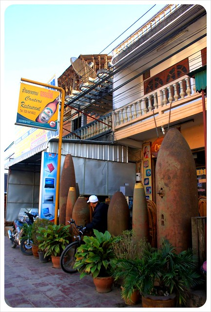 phonsavan restaurant with bombs