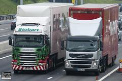 Scania R440 6x4 Tractor - PK11 BVZ - Lara Michelle - Green & Red - 2011 - Eddie Stobart - M1 J10 Luton - Steven Gray - IMG_4576