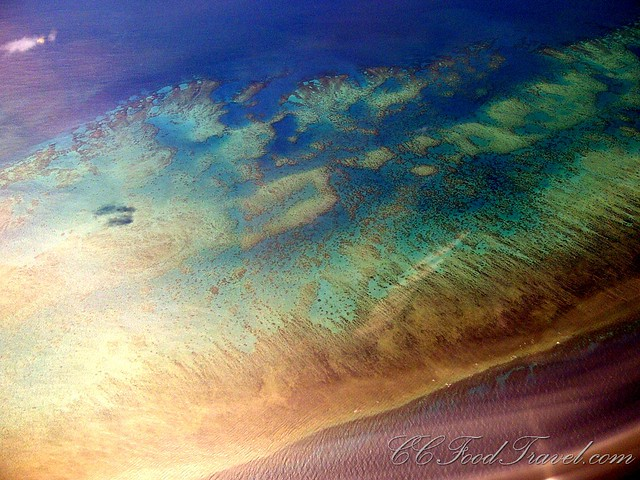 Ariel view - the Great Barrier Reef