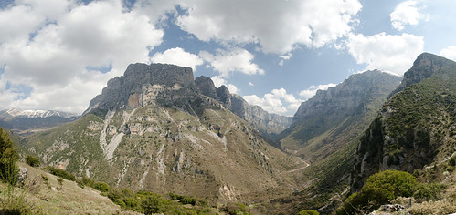sky panorama mountain nature beautiful clouds landscape nikon view greece gorge ioannina vikos zagorochoria voidomatis nikond7000