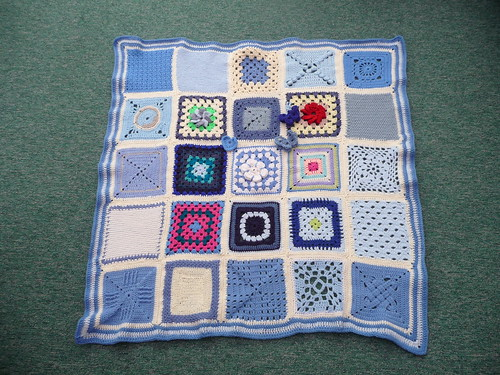Thanks to everyone that contributed Squares for this Blanket. Thank you Kirsty for assembling this one for me!
