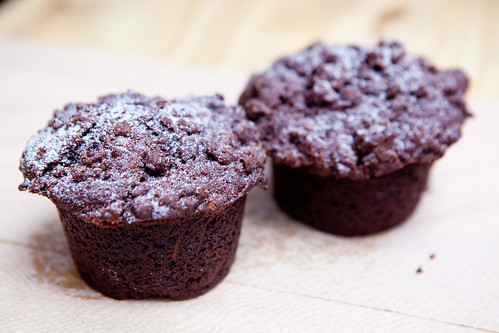 Cocoa carrot muffins