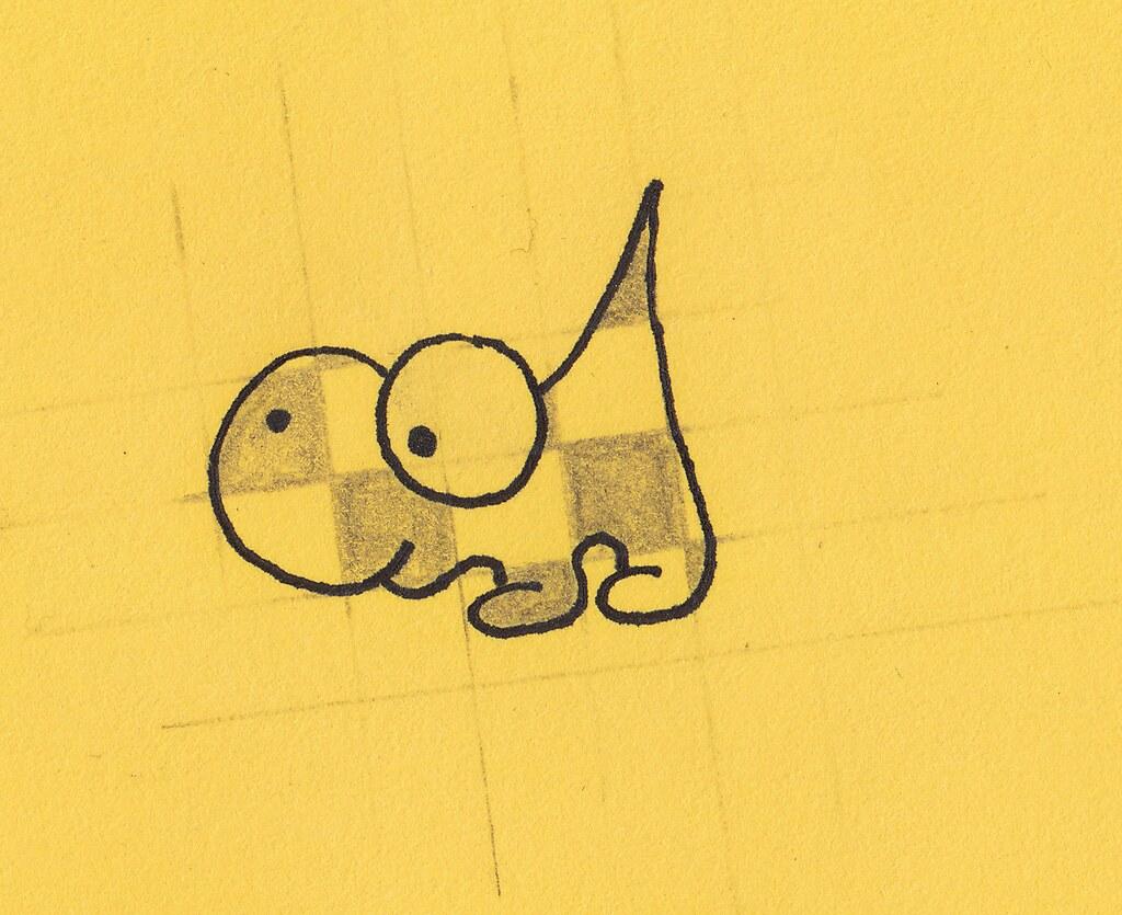 un animal à carreaux