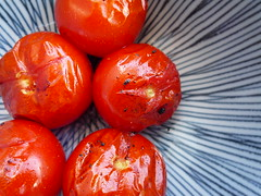 lightly grilled tomatoes