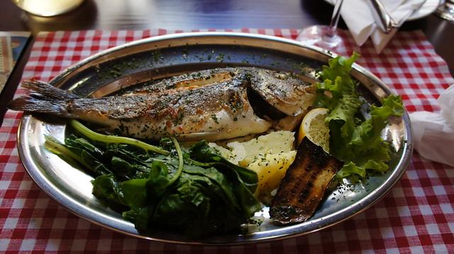 Grilled Fish, Ristorante Atrium, Palaca Cindro, Diocletian's Palace, Split, Croatia