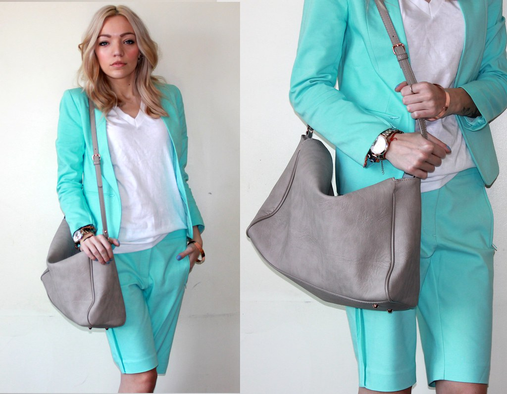 Mint short suit hm zara bag 2