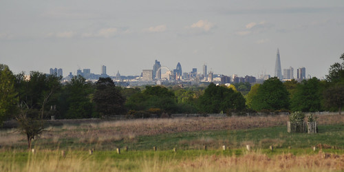 London skyline from Sawyer's Hill