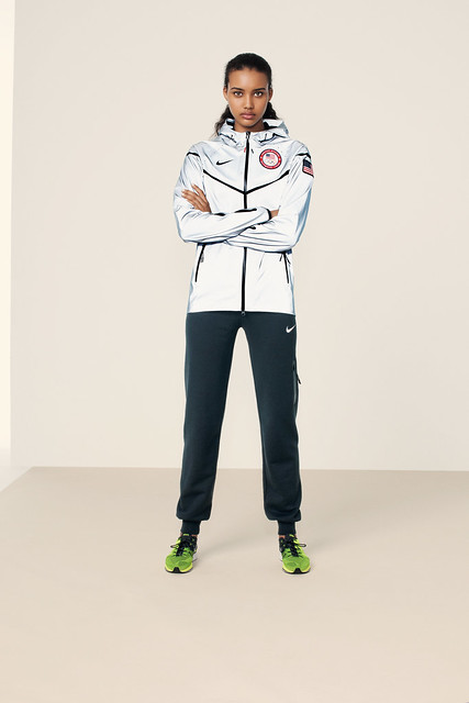 Nike US medal stand footwear and apparel