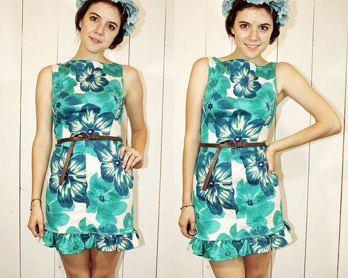 hawaiian ruffle dress