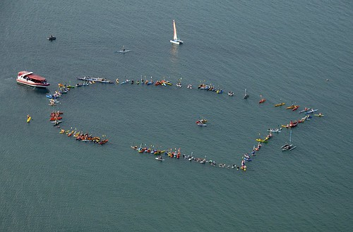 Hervey Bay Paddle Out Aerial