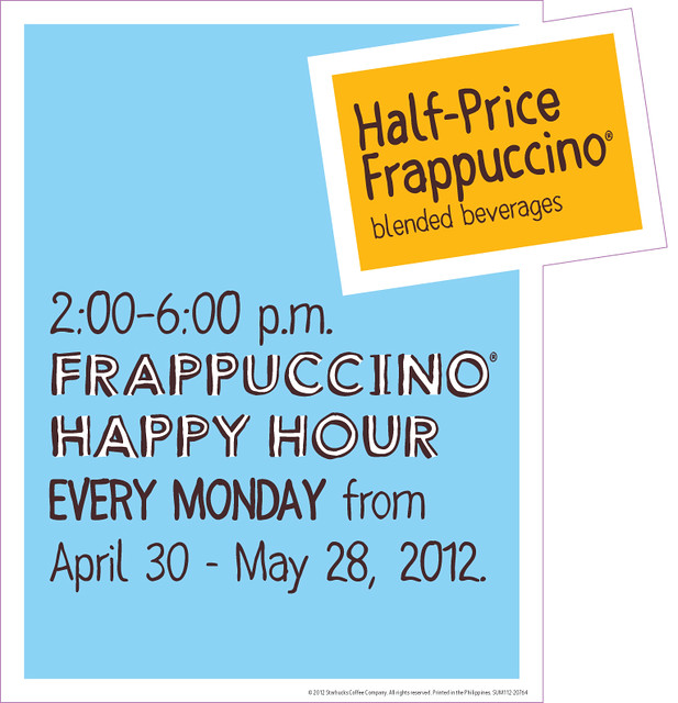 Frappuccino Happy Hour Standee