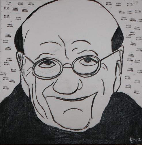 Rupert Murdoch  by humanstatuebodyart